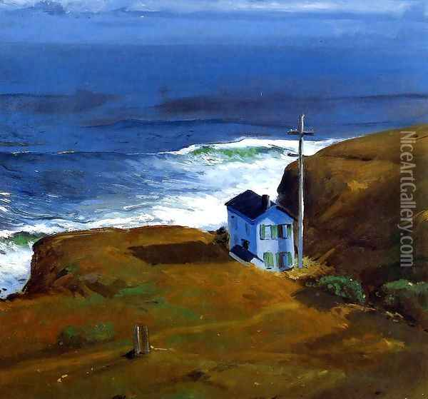 Shore House 1911 Oil Painting - George Wesley Bellows