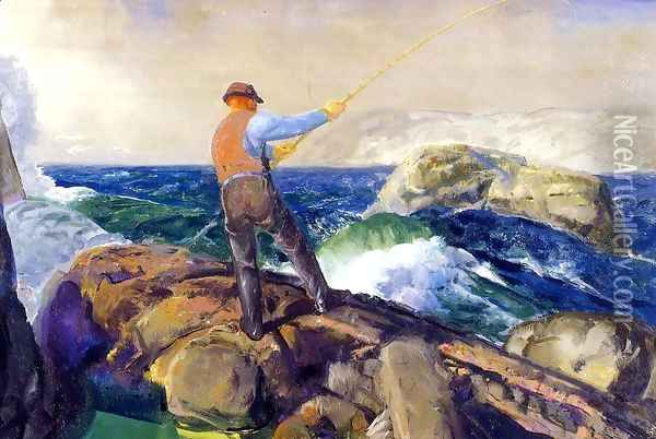 The Fisherman 1917 Oil Painting - George Wesley Bellows