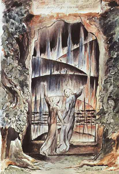 Dante And Virgil At The Gates Of Hell Illustration To Dante S Inferno