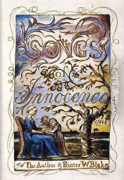 Songs Of Innocence (Title Page) Oil Painting - William Blake