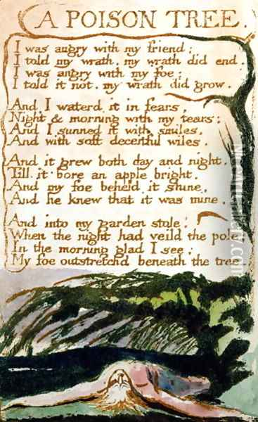 A Poison Tree, from Songs of Experience Oil Painting - William Blake