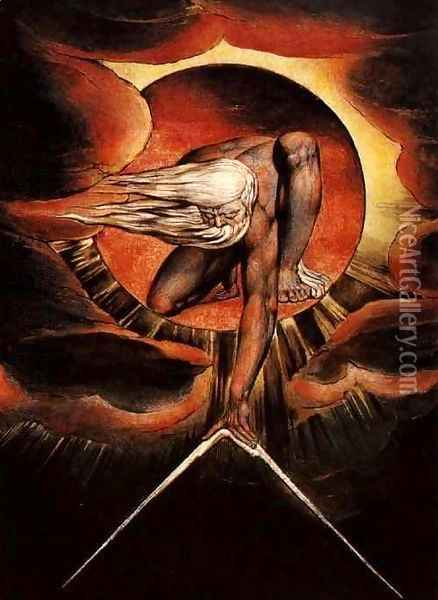 The Ancient of Days Oil Painting - William Blake