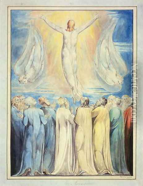 The Ascension, c.1805-6 Oil Painting - William Blake