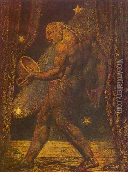The Ghost of a Flea Oil Painting - William Blake