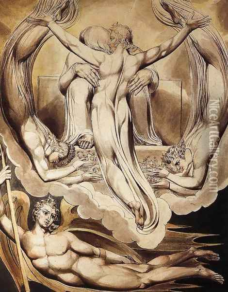 Christ as the Redeemer of Man 1808 Oil Painting - William Blake