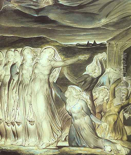 The Parable of the Wise and Foolish Virgins 1822 Oil Painting - William Blake