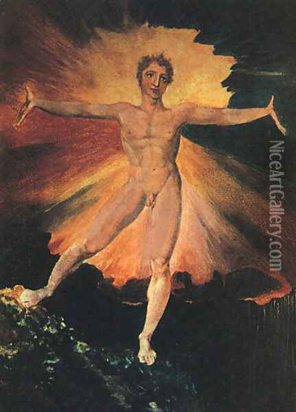 Glad Day or The Dance of Albion, c.1794 Oil Painting - William Blake