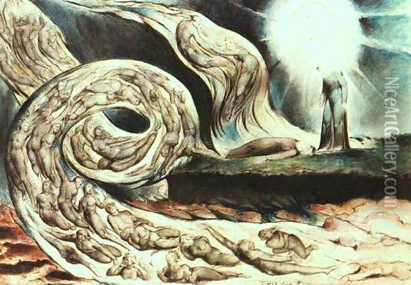 The Whirlwind of Lovers Oil Painting - William Blake