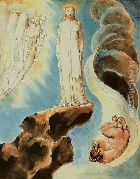 The Third Temptation Oil Painting - William Blake