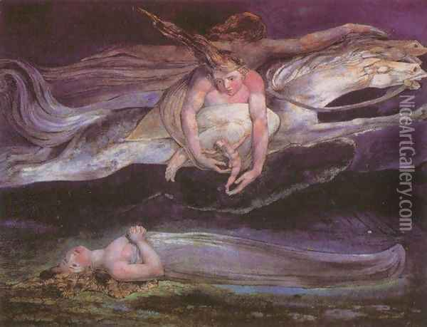 Pity Oil Painting - William Blake