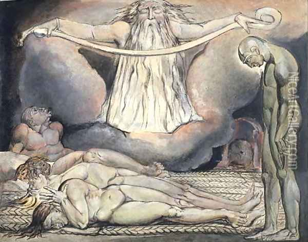 The Lazar House, 1795 Oil Painting - William Blake