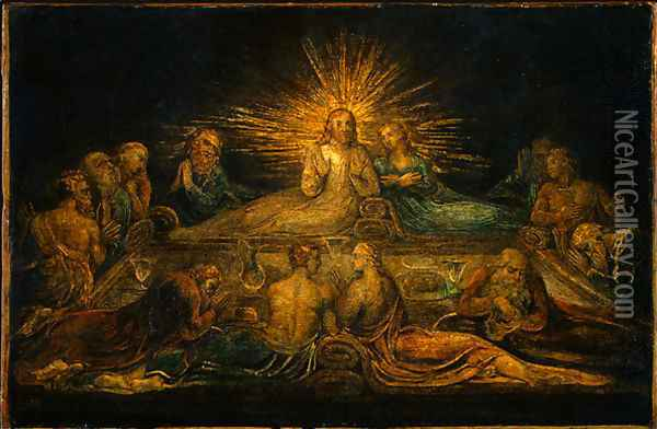 The Last Supper Oil Painting - William Blake