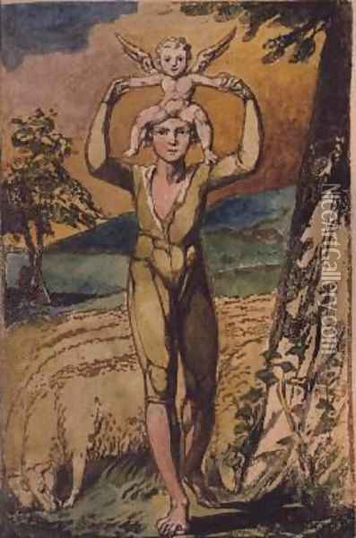 Frontispiece, from Songs of Innocence Oil Painting - William Blake