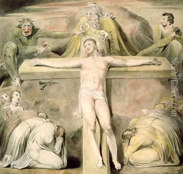 The Crucifixion Oil Painting - William Blake