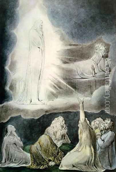 The Vision of Eliphaz, 1825 Oil Painting - William Blake