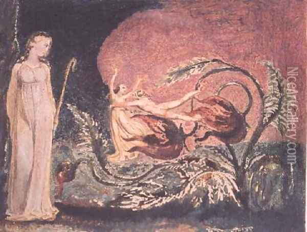 The Book of Thel- title page, 1794 Oil Painting - William Blake