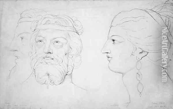 Pindar and Lais, 1820 Oil Painting - William Blake