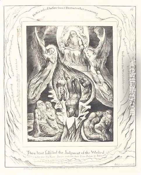 Illustrations of the Book of Job Oil Painting - William Blake