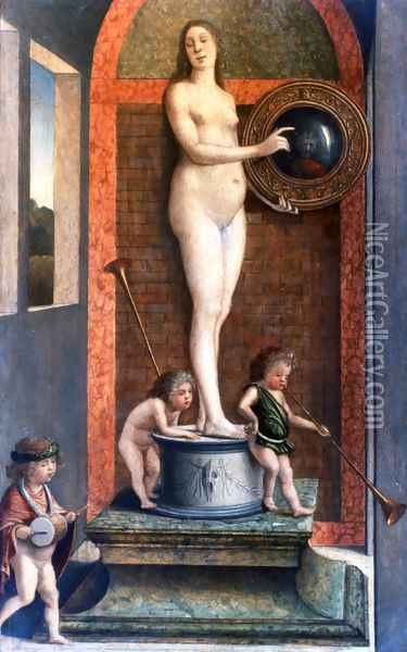 Prudence Oil Painting - Giovanni Bellini