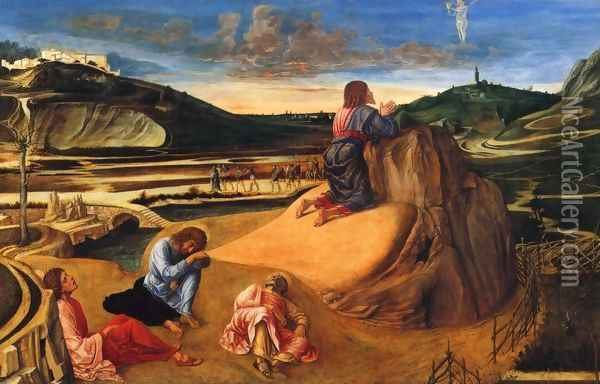 Agony in the Garden c. 1465 Oil Painting - Giovanni Bellini