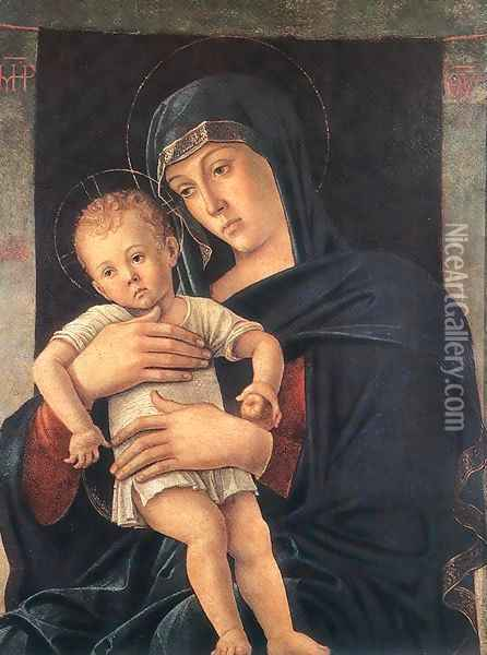 Madonna with the Child (Greek Madonna) 1460-64 Oil Painting - Giovanni Bellini