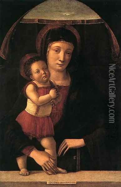 Madonna with Child 1450-55 Oil Painting - Giovanni Bellini