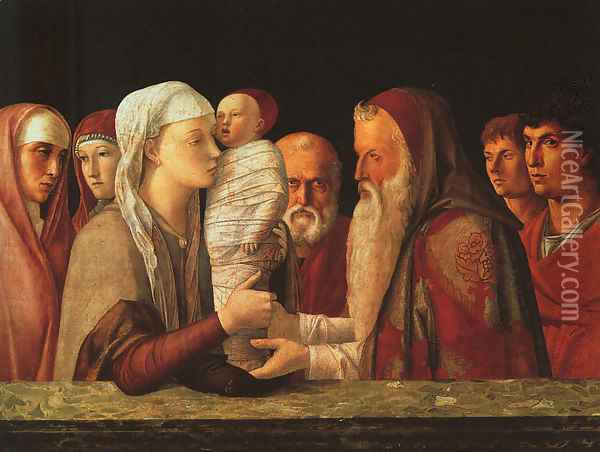 The Presentation at the Temple 1459 Oil Painting - Giovanni Bellini