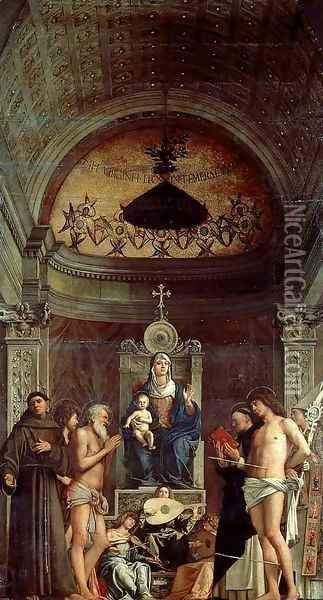 San Giobbe Altarpiece Oil Painting - Giovanni Bellini