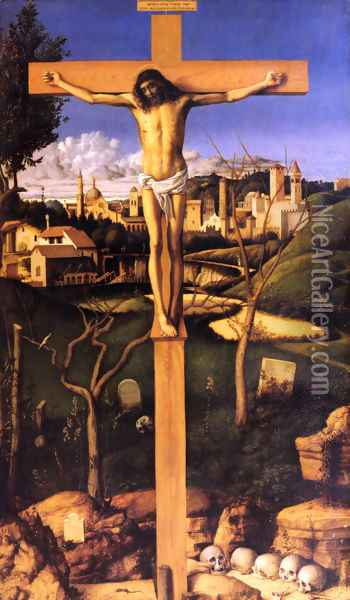 The Crucifixion Oil Painting - Giovanni Bellini
