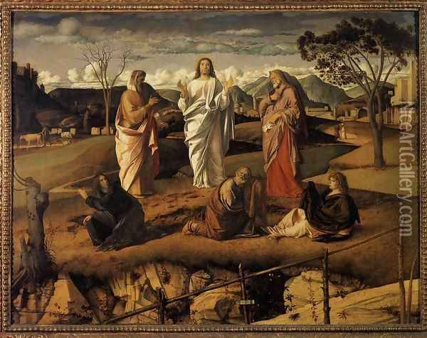 Transfiguration of Christ c. 1487 Oil Painting - Giovanni Bellini