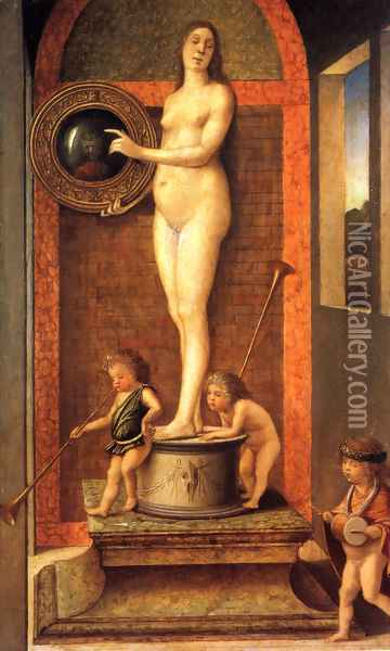 Allegory Of Vanitas Oil Painting - Giovanni Bellini