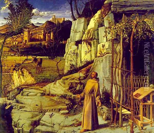 St. Francis in Ecstasy Oil Painting - Giovanni Bellini