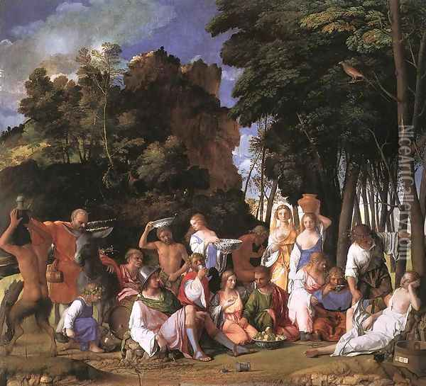 The Feast of the Gods 1514 Oil Painting - Giovanni Bellini