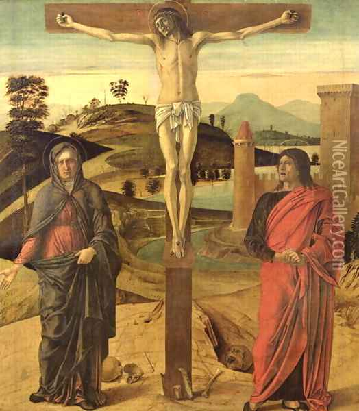 Calvary, c.1465-70 Oil Painting - Giovanni Bellini