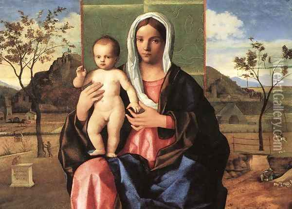 Madonna and Child Blessing 1510 Oil Painting - Giovanni Bellini