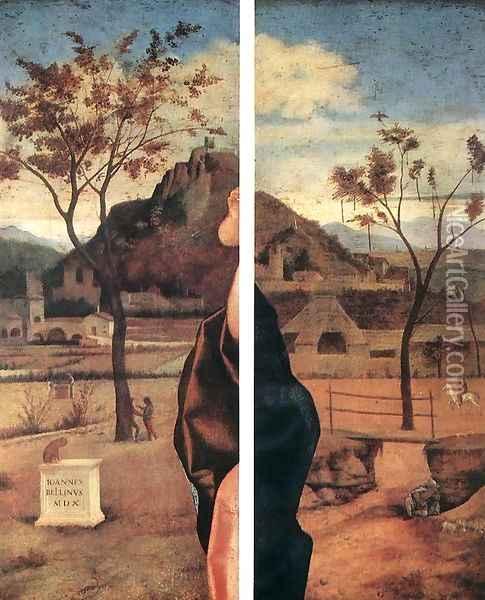 Madonna and Child Blessing (details) 1510 Oil Painting - Giovanni Bellini