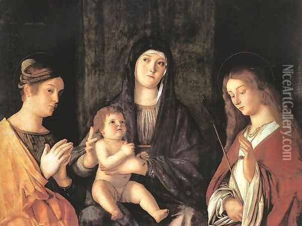 Sacred Conversation 1490 Oil Painting - Giovanni Bellini