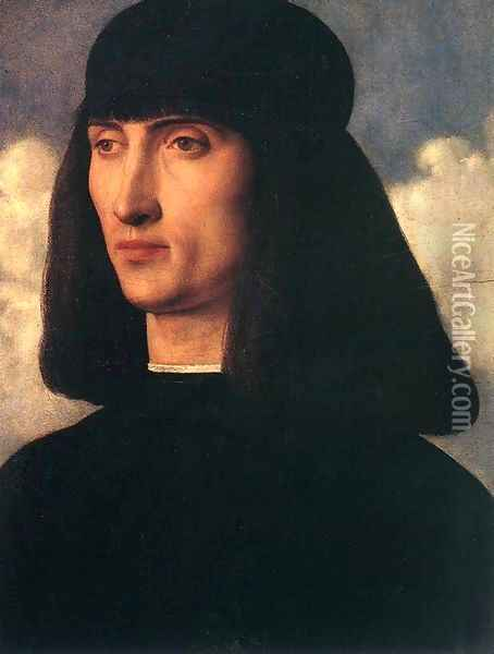 Portrait of a Young Man c. 1500 Oil Painting - Giovanni Bellini