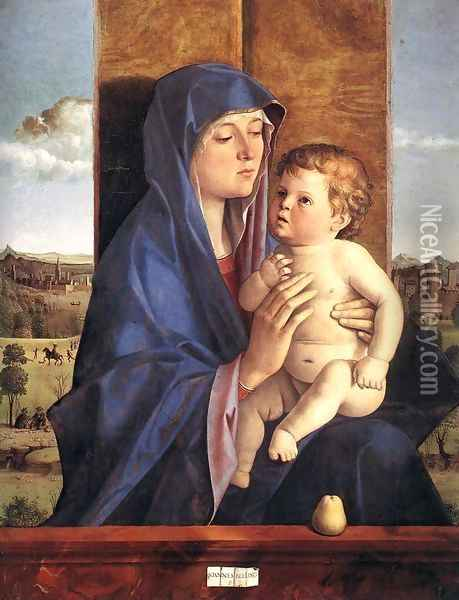 Madonna and Child 1480-90 Oil Painting - Giovanni Bellini