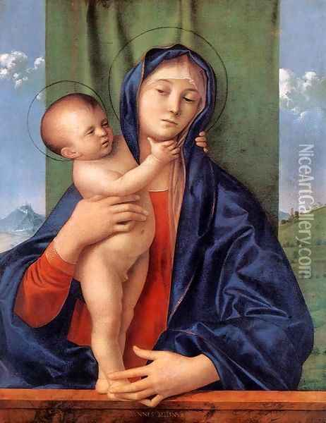 Madonna with the Child 1487 Oil Painting - Giovanni Bellini