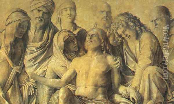 The Lamentation over the Body of Christ c. 1500 Oil Painting - Giovanni Bellini