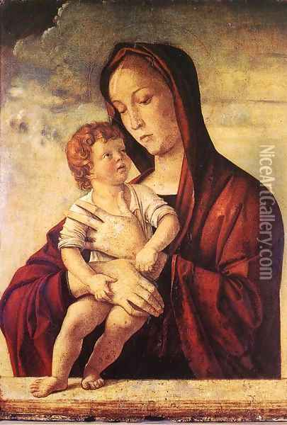 Madonna with Child c. 1475 2 Oil Painting - Giovanni Bellini