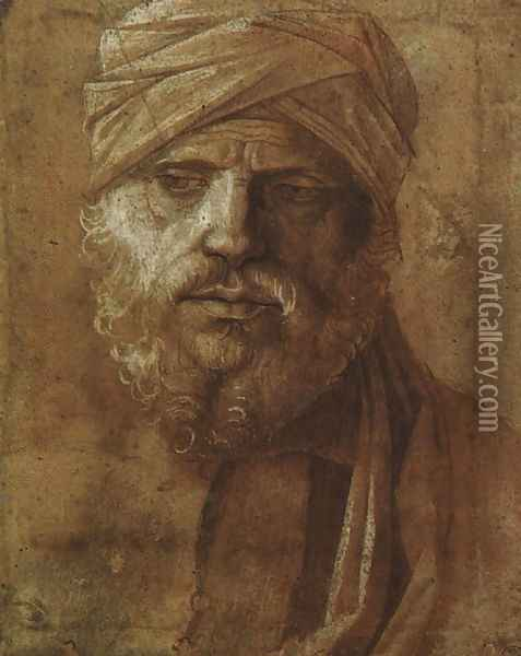 Man with a Turban Oil Painting - Giovanni Bellini