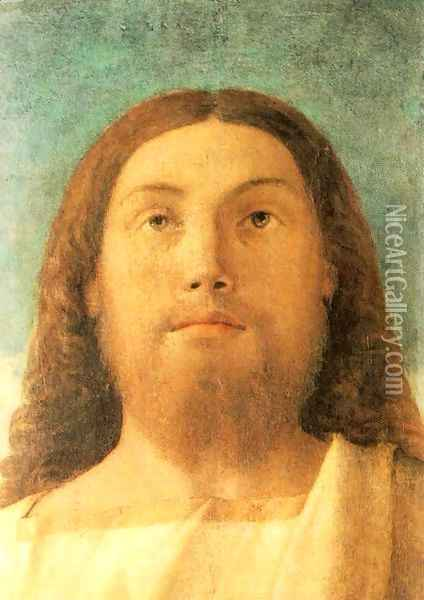Head of the Redeemer 1500-02 Oil Painting - Giovanni Bellini