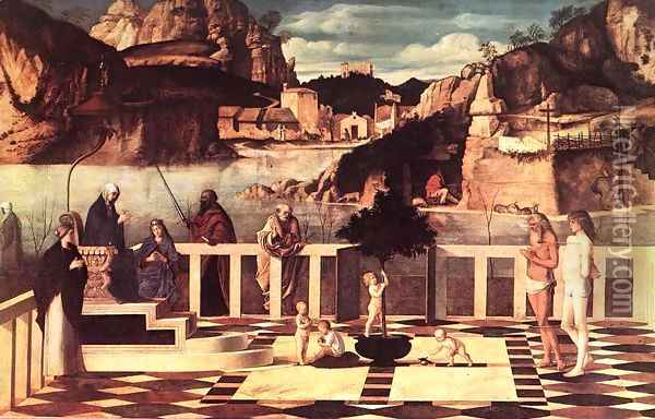 Sacred Allegory 1490-1500 Oil Painting - Giovanni Bellini