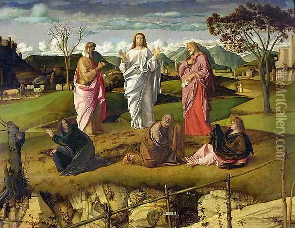 The Transfiguration 1480 Oil Painting - Giovanni Bellini