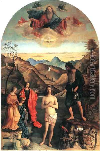 Baptism of Christ Oil Painting - Giovanni Bellini