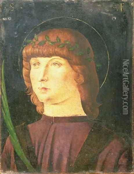 Portrait of St.Lawrence Giustiniani, Bishop of Venice Oil Painting - Giovanni Bellini