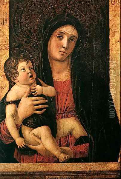 Madonna with Child c. 1475 Oil Painting - Giovanni Bellini