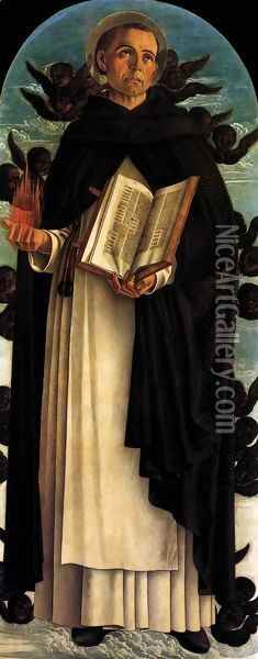 Polyptych of S. Vincenzo Ferreri (central panel) Oil Painting - Giovanni Bellini